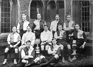 Shenton Thomas - Queens' College, Cambridge football team 1900-1901, including Sir Shenton Thomas (second from right, middle row), Charles Tate Regan and Samuel Day.