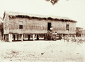 Queensland State Archives 2528 House of thatch at Greenwell Badu occupied by teacher Morris 1898.png