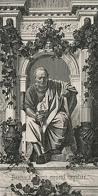 Image of Horace, imagined by Anton von Werner, from Wikipedia