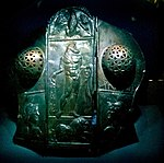 Römische Paraderüstung für Pferde aus Bronze — Exponat in der Archäologischen Staatssammlung München.JPG