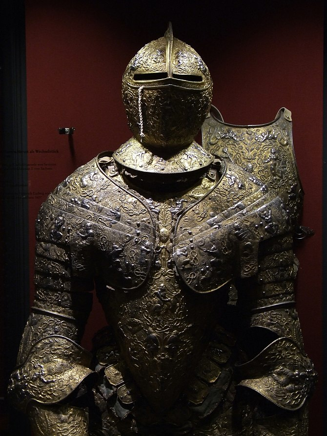 English: Rüstkammer, Dresden - plate armour. F...