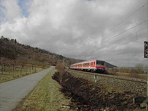 Würzburg train attack - Regionalbahn between Winterhausen and Würzburg-Heidingsfeld