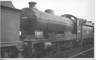 ROD 2-8-0 - 63840 was built as ROD No. 1993 by the North British Locomotive Company in Glasgow in January 1919. On disposal by the ROD in 1925 it became Class O4/2 No. 6524 with the LNER and later no. 63840. Photo at Langwith Junction on 7 August 1960. It was withdrawn by British Railways in September 1963.