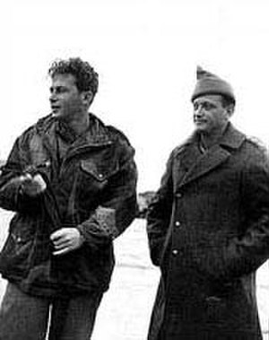 Yitzhak Rabin - Rabin and Yigal Allon (1949)