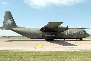 Royal Air Force Hercules C-130K (C3) in commem...