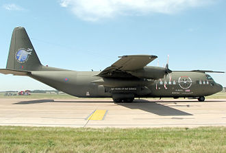 Marshall Aerospace and Defence Group - Royal Air Force Hercules C-130K (C3) in commemorative Hercules Integrated Operational Support Colour Scheme.