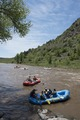 Rafters test the rapids of the Animas River, just below Durango, the seat of La Plata County in southern Colorado LCCN2015632867.tif