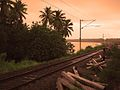 Railtracks at sunset in Kollam.jpg