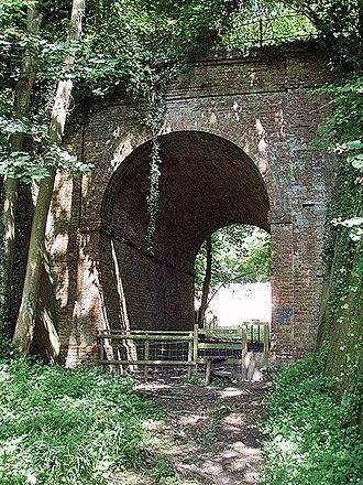 Elham Valley Railway - Railway bridge near Etchinghill, formerly used by the Elham Valley Railway