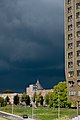 Rain is coming - The Netherlands, Amsterdam - Gerardus Majella Church - panoramio.jpg