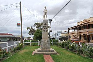 Rainbow, Victoria - War memorial in the main street