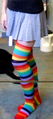 Rainbow Socks Under Denim Skirt.png