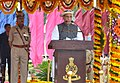 Rajnath Singh addressing the Passing Out Parade of 29th Battalion of Assistant Commandants and 41st Batch of Sub-Inspectors of Central Industrial Security Force, at the National Industrial Security Academy, in Hyderabad.jpg