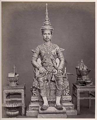 Chulalongkorn - King Chulalongkorn after his second coronation ceremony in 16 November 1873.