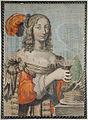 Recto- Calligraphy; Verso- Colored European engraving of a woman (6124536209).jpg