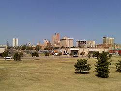 Downtown Lubbock in August 2009