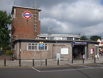 Redbridge tube station - Station entrance