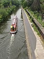 Regent's canal with passenger boat and jogger - geograph.org.uk - 823509.jpg