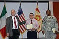 Regional program manager honored at Vicenza (10601893565).jpg