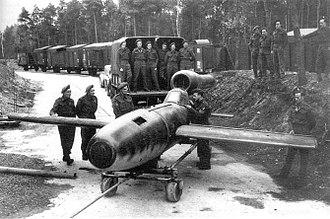 Fieseler Fi 103R Reichenberg - Fi 103R Reichenberg (without warhead) captured by British troops in 1945