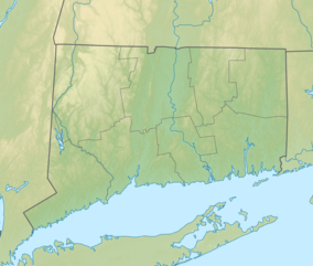 Map showing the location of Sleeping Giant State Park
