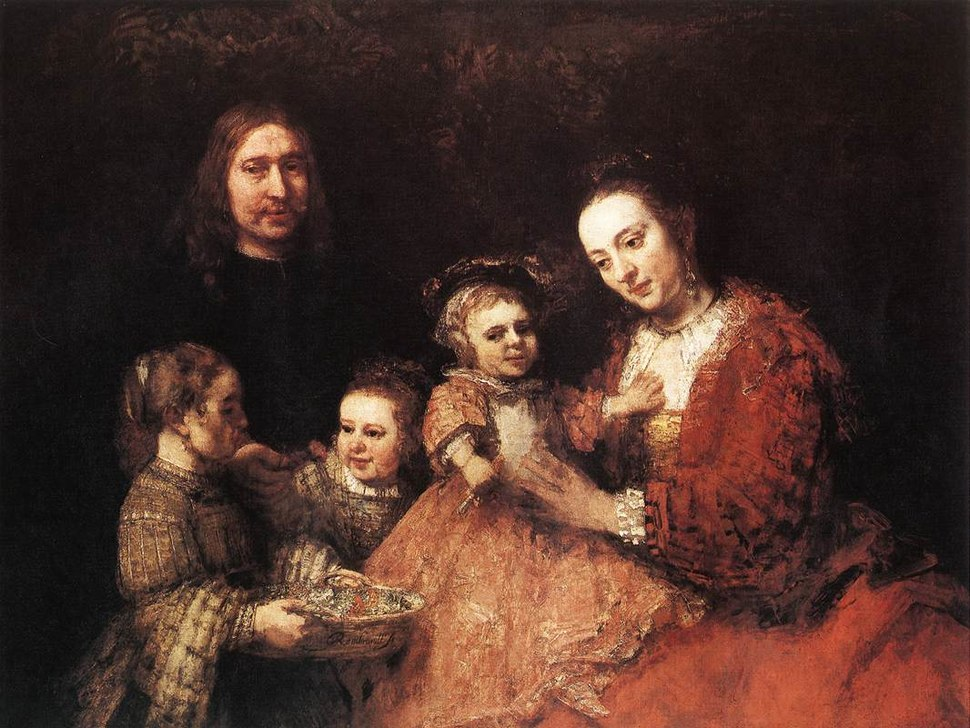 Rembrandt - Family Group - WGA19144