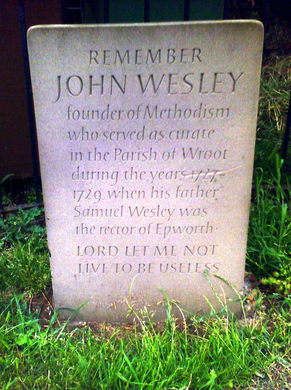 Remember John Wesley, Wroot