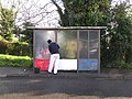 Removing grafetti at Bus Shelter, Omagh - geograph.org.uk - 287364.jpg