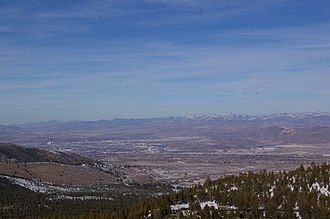 Nevada State Route 431 - Reno as seen from the Mt. Rose Highway