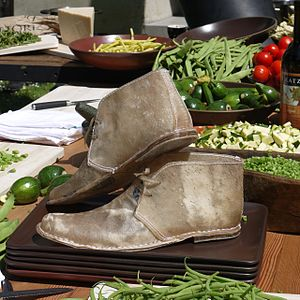 Werner Herzog Eats His Shoe - Replica of the titular shoes, created for the Chez Panisse 40th anniversary celebration