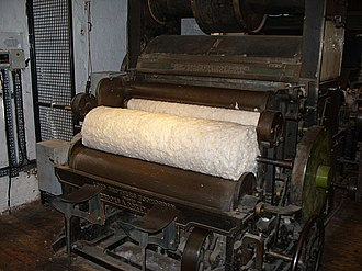Thomas Highs - A restored carding machine at Quarry Bank Mill in the UK.