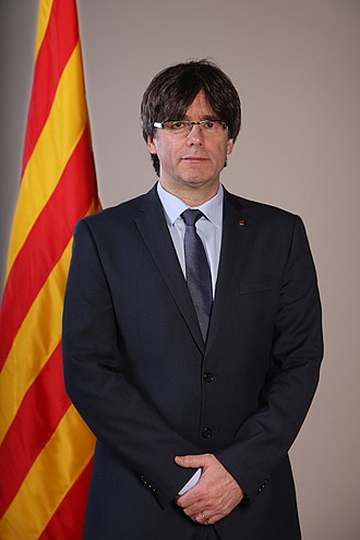 Catalan Republic (2017) - Carles Puigdemont, President of the Generalitat of Catalonia at the time of the independence declaration