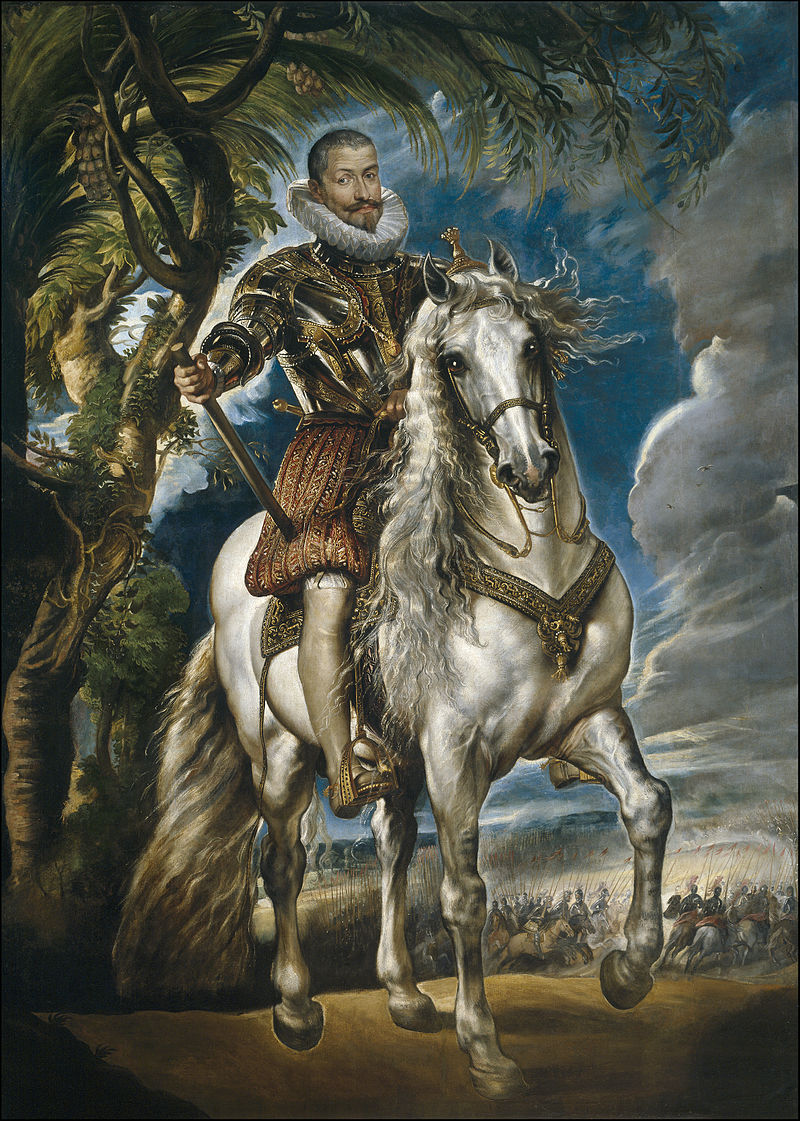Retrato ecuestre del duque de Lerma, por Pedro Pablo Rubens, 1603.
