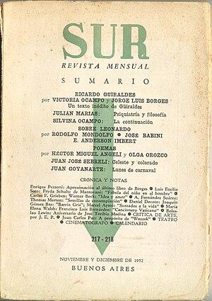 Victoria Ocampo - Sur Magazine, 1952