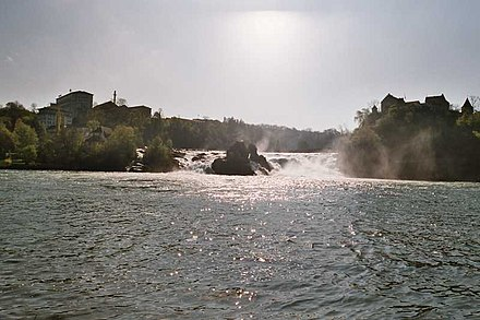 The Rhine Falls at Schaffhausen (Switzerland) Rheinfall01.jpg
