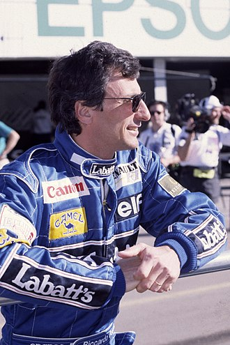 1989 Formula One World Championship - Riccardo Patrese came third on 40 points for Williams-Renault.