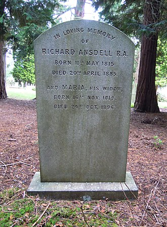 Richard Ansdell - Ansdell's grave in Brookwood Cemetery