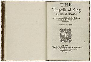Richard II (play) - The title page from the 1608 quarto edition of the play.