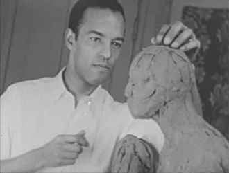 Richmond Barthé - Capture taken from the silent movie A Study of Negro Artists, filmed by Jules V.D. Bucher in 1935