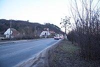 Road II 394 near Tetčice railroad crossing in Tetčice, Brno-country District.jpg