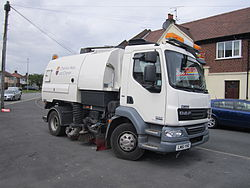 Road sweeper vehicle at Overpool.jpg