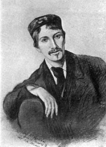 English: Robert Louis Stevenson at 26 Français...