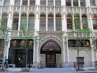 Wesley Building (Philadelphia) - Image: Robert Morris Hotel 17th Street facade
