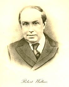 Taken from the frontispiece of his biography: Robert Wallace: Life and Last Leaves.