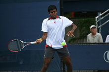 Rohan Bopanna at the 2010 US Open 01.jpg