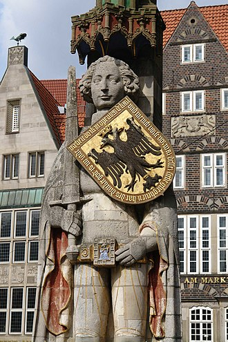 Bremen Roland - Statue of Roland on the market square
