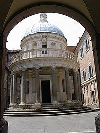 Templete de San Pedro en Montorio, por Bramante, Roma, 1502