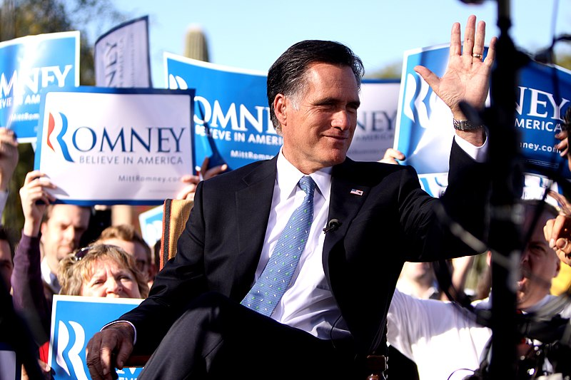 Romney 2011 Paradise Valley, AZ rally.jpg