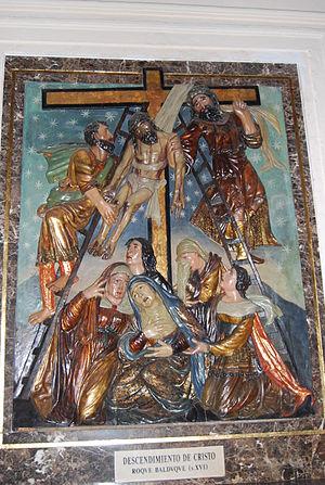 Roque Balduque - Surviving fragment of altarpiece, Church of John the Baptist, Chiclana (province of Cádiz, Spain.