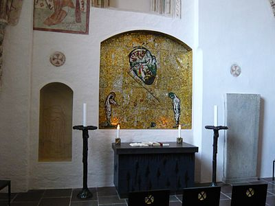 The altar in St Andrew's Chapel - Roskilde Cathedral